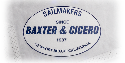 The Baxter & Cicero logo for sails.