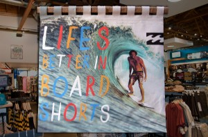Retail display for Billabong, made of canvas