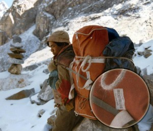 Duffel carried by Sherpa
