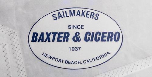 The Baxter & Cicero logo for sails.