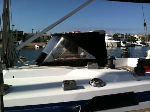 sailboat dodger side view