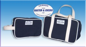 Canvas toiletries and cosmetics bags
