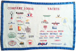 Company names and logos, boat names embroidery